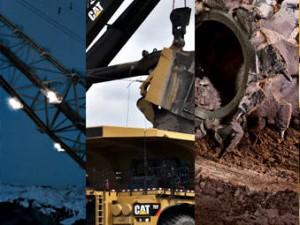 Caterpillar mining industry trucks and equipment