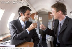 """aluminum buyers"" drinking champagne"