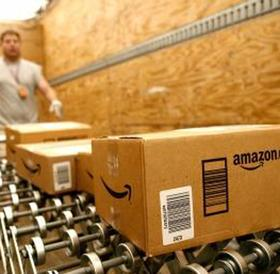 Amazon Boxes Warehouse Line
