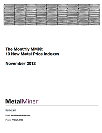 November 2012 Current Metal Price Report cover