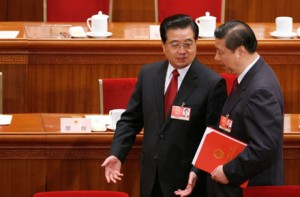 President Hu Jintao and successor Vice President Xi Jinping