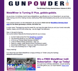 metalminer newsletter gunpowder