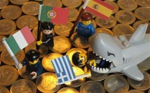 EU crisis gold coins legos
