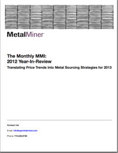 MetalMiner MMI Year In Review 2012 whitepaper