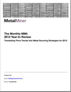 MetalMiner MMI Year In Review 2012 whitepaper