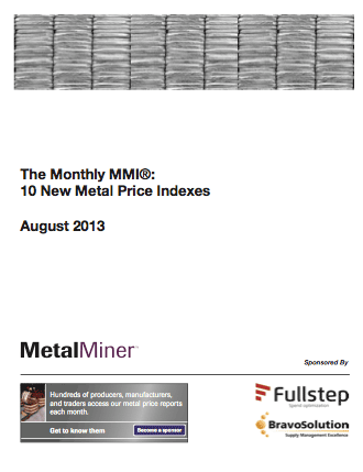 cover page of metalminer monthly mmi metal price report