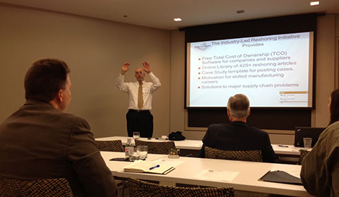 harry moser presenting at conference