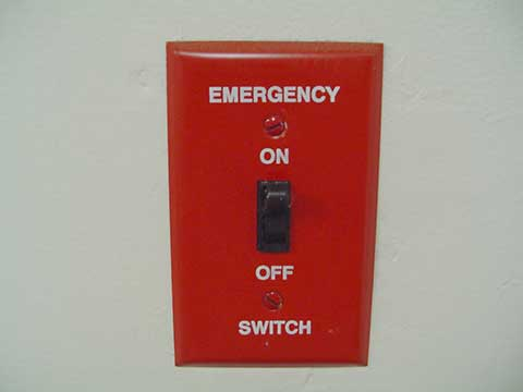 emergency on off switch