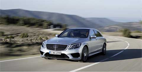 silver mercedes on road