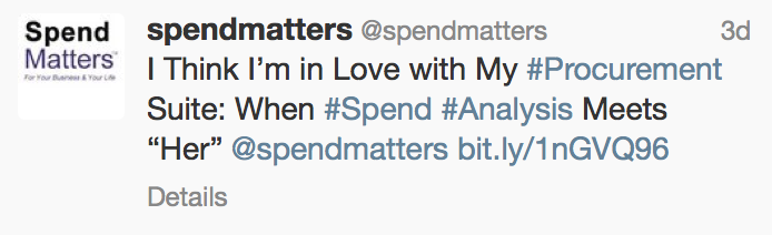 spend matters tweet screenshot