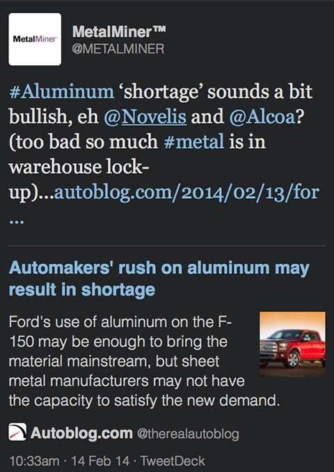 novelis-alcoa-aluminum-shortage-tweet